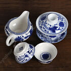 NEW 4pcs Chinese Porcelain Blue phoenix Gaiwan Pitcher Chahai teacup cup tea set