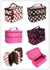 Makeup Cosmetic Toiletry Container hand Case Bag travel large double layer zip