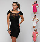 SEXY LADIES  STYLISH CLUBBING MINI DRESS PARTY LACE DRESS EVENING DRES Size 8-14