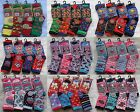 12 Pairs Girls Boys Childrens Baby Designer Character Socks Kids Socks All Sizes