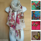 Large Butterfly Print Scarf Ladies Womens Big Soft Fashion Hot Scarves Hijab New