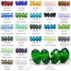 New Fashion 25 Colors Rondelle Crystal Glass Beads fit Charm Bracelet DIY