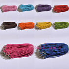 50pcs/100pcs Nice Leather Necklace Cord 10 Colours T8444 500x3mm Free Ship