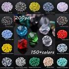 200pcs 4mm Crystal Glass Bicone Facets Loose Spacer Beads lot for Jewelry Making