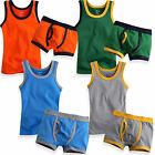 "NWT Vaenait Baby Toddler Boy Underwear Undershirt Boxer Brief set""Light 4 Color"""
