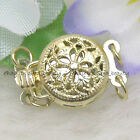 Filigree Yellow Gold Plated Jewelry Clasps finding