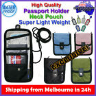 Travel Departure Passport Card Holder iPhone Wallet Neck Pouch Case Luggage Tag