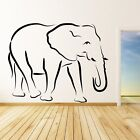 Elephant Outline Animals Wall Art Stickers  Transfers