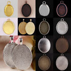 Oval Picture Photo Frame Tibet Silver Golden Copper Bronze Pendant Charm Finding