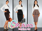 NEW Elegant Skirt with Frill High Waist Multicolours Size 8-12 FA36