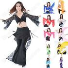 Women Dress Tribal Belly Dance Practice Lace Sheer Top 11 Colors