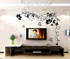 Butterfly Flowers Mural Decals Decor Home Art Removable Craft Wall Stickers DIY
