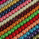 50pcs 8mm Round Glass Pearl Loose spacer beads 29 Colors! Pick Your Color!