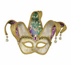 Color Changing Mardi Gras Jester Costume Mask Mardi Gras FREE USA SHIPPING 62697