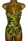 Ladies Underwired Swimsuit Sizes 8-12 Ruched Cups Swimming Costume NEW