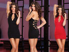 Women Sexy Strap Zipper Back Cocktail Party Clubwear Summer Mini Dress tight 277