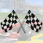 CHEQUERED RACING FLAGS WALL ART STICKER WA9