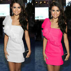 Sexy Wome Wedding Ruffer One Shoulder Evening Party Prom Summer Mini Dress Y273