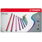 Stabilo Pen 68 Fibre-Tip Pens Assorted Tins of 10, 20 & 50