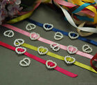 Selections of Heart Shape Ribbon Buckle Sliders - Gift Wrap & Party Invitaton