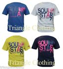 Mens Boys Graphic Print T Shirt Top Soul Star 76 Short Sleeved Round Neck