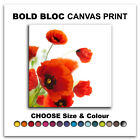 Poppies Flower FLORAL  Canvas Art Print Box Framed Picture Wall Hanging BBD