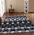 SMALL - EXTRA LARGE THICK MODERN DOTTY GREY DESIGNER RUG