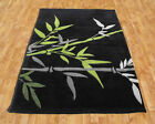 SMALL MEDIUM LARGE EXTRA LARGE THICK MODERN BAMBOO DARK GREY GREEN DESIGNER RUG
