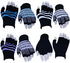 Ladies Girls Winter Thermal Designer Fingerless Gloves For Work, Typing & Touch