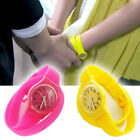 Unisex Students Candy Color Jelly Rubber Candy Color Mens Women Wrist Watch