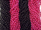 Pink Black Mardi Gras Beads Necklaces Party Favors 24 48 72 144