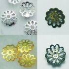 200pcs 9mm dull Silver gold Plated bronze Bead Caps Jewellery AC016