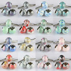 Wholesale Colorful Howlite Turquoise Gemstone European Beads Fit Charms Bracelet