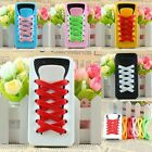 5Colors to Choose Soft Silicone Sporty Shoe Lace Back Cover Case For iPhone 5 5G