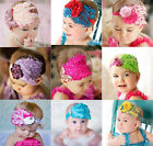 Baby Vintage Headband flower Feather Pad prop hair band Accessorie for Christma