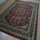 Pendra Traditional Persian Look Rugs In Red & Black - 6  Sizes Available OW217R