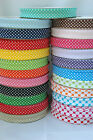 SPOTTY SPOT POLKA DOT COTTON BIAS BINDING TAPE BY METRE 18MM SEWING CRAFTS