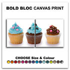 Cupcakes ABSTRACT  Canvas Art Print Box Framed Picture Wall Hanging BBD