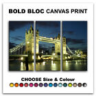 London Tower Bridge CITY  Canvas Art Print Box Framed Picture Wall Hanging BBD