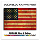 Abstract American FLAGS  Canvas Art Print Box Framed Picture Wall Hanging BBD