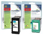 2 Remanufactured HP 350XL / 351XL Ink Cartridges for Photosmart C4270 & more