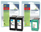 3 Remanufactured HP 350XL / 351XL Ink Cartridges for Photosmart C4270 & more