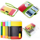 New Hybrid Leather Wallet Flip Pouch Case Cover For Samsung Galaxy S3 SIII i9300