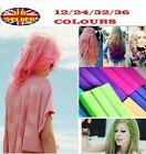 12 24 32 36 colors Temporary DYE SALON KIT SOFT Hair Chalks Pastels Wash-Out