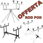 rod pod carpfishing per 3 canne avvisatori pesca kit rodpod bars 4 mulinelli new