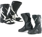 SPADA ST1 MOTORCYCLE WATER RESISTANT LEATHER BOOTS BLACK or BLACK/WHITE