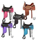 """13"""" Youth Krypton Synthetic/Leather Western All Around Saddle(5 Color Choices)"""
