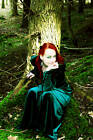 ENCHANTING Hooded Pixie Dress/PAGAN/FESTIVALS/FAE/RowansCloset/StretchVelvet