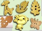 Wholesale Sewing Wood Buttons Animal  Butterflies Monkey Bird Squirrel Giraffe