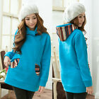 Womens Hooded Sweats Pullover Fashion Outerwears Lovely Pockets Long Sleeve New